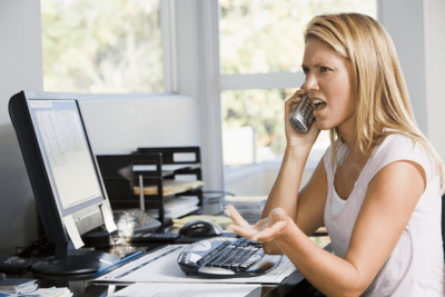 Property Management, Angry Woman On Phone