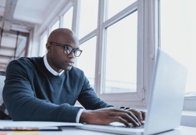 Property Management, Man On Computer