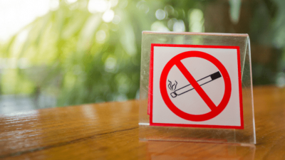No Smoking no smoking sign on table