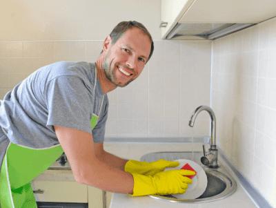 My Way vs. Your Way, Man Washing Dishes