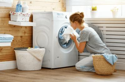 Messy BNB, Woman Doing Laundry